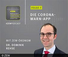 ZEW economist Dr. Dominik Rehse about the Coronavirus Contact-Tracing App.