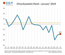 In January, the CEP Indicator has risen to a new reading of minus 18.3 points.